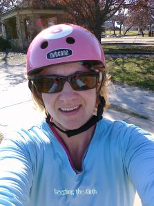 Angela Pea, biking the Trinity Trails