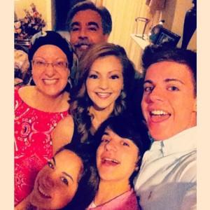 Pea Family Easter Selfie